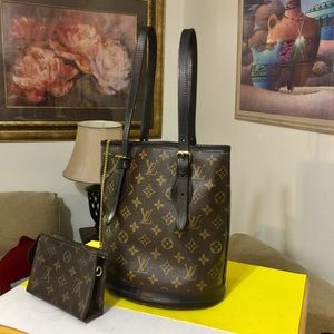 Louis Vuitton Bucket and Pouch Bag Set👜Black